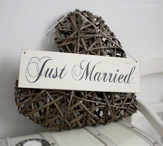 Just Married Vintage Digital Download Greetings Card Printable  Vintage Just Married