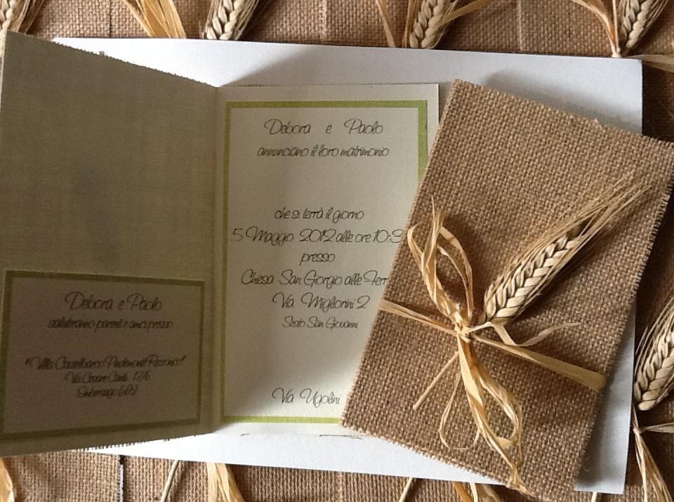 Partecipazioni Matrimonio In Juta : Allestimenti matrimonio ecologico ideazione e