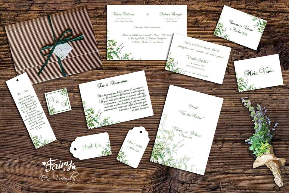 Partecipazioni Matrimonio Natura.Matrimonio Ecologico Partecipazione Ecologica Fairy Eco